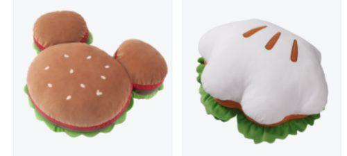 ディズニーのバーガー・サンドイッチ型クッション