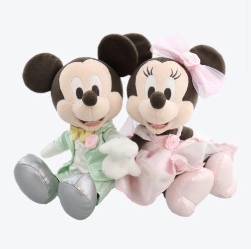 ミッキーとミニーの結婚式のぬいぐるみ