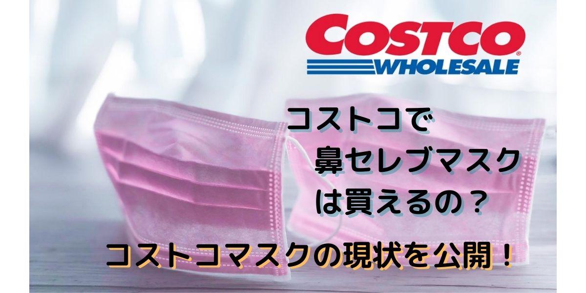 「鼻セレブマスク(1箱40枚入り)」はコストコで買える?マニアが解説!