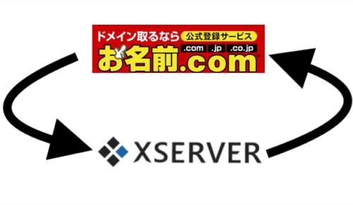 「お名前ドットコムドメイン」を「エックスサーバー」で使用する手順